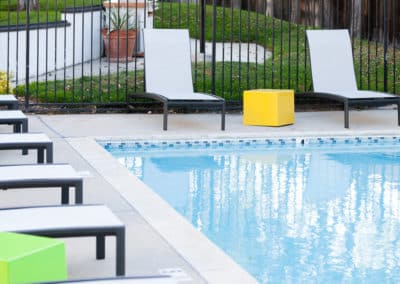 One of sparkling pools at Eastside Apartments