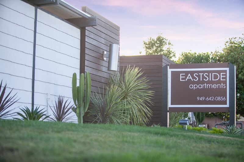 Eastside Apartments Sign Monument